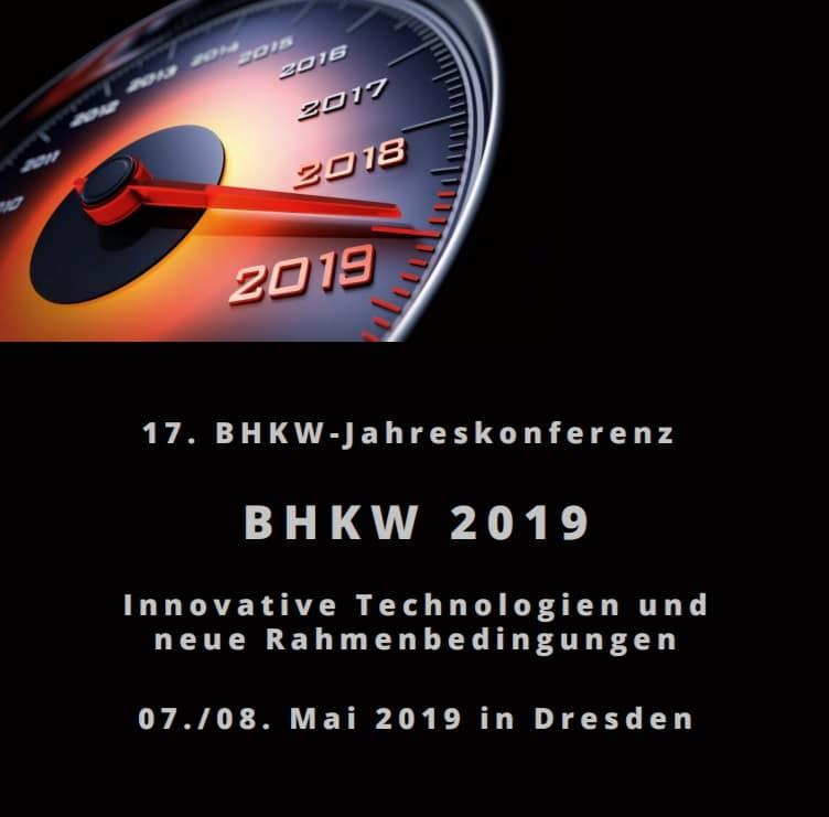 Konferenz- und Anmeldeflyer des BHKW-Jahreskongresses 2019 veröffentlicht