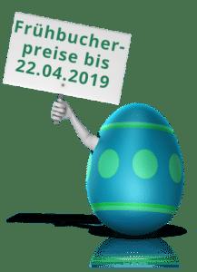Frühbucherpreise noch bis Ostermontag